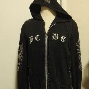 BCBG Studded Hoodie